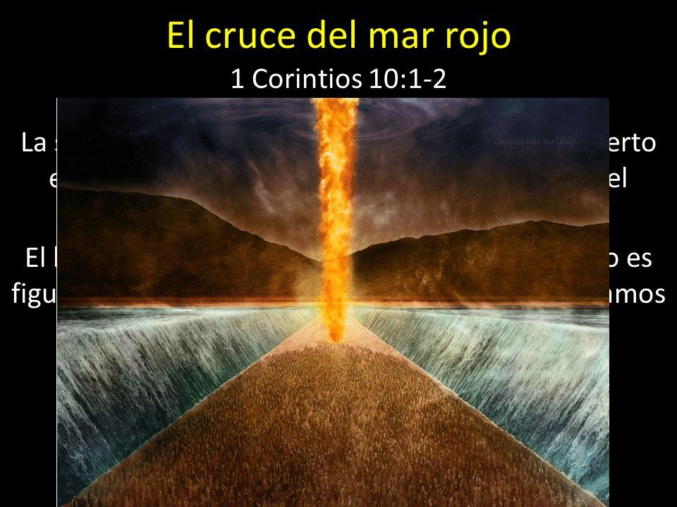 El cruce del mar rojo 1 Corintios 10:1-2 La salida de Egipto y la peregrinación por el desierto es figura de la peregrinación del cristiano por el mun