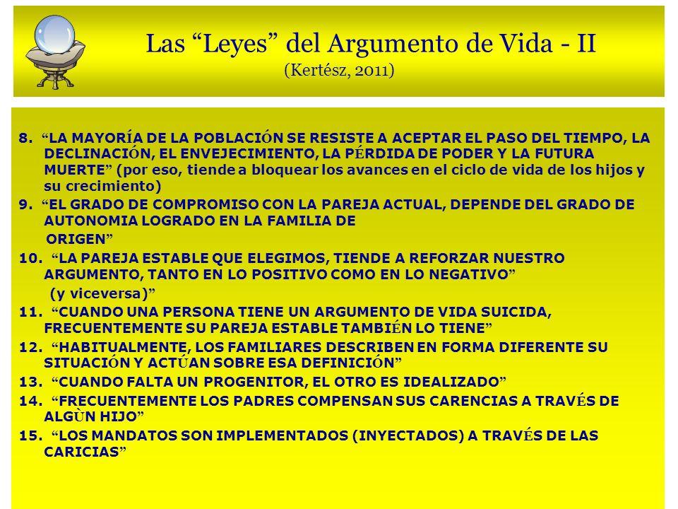 Las Leyes del Argumento de Vida - II (Kertész, 2011) 8.