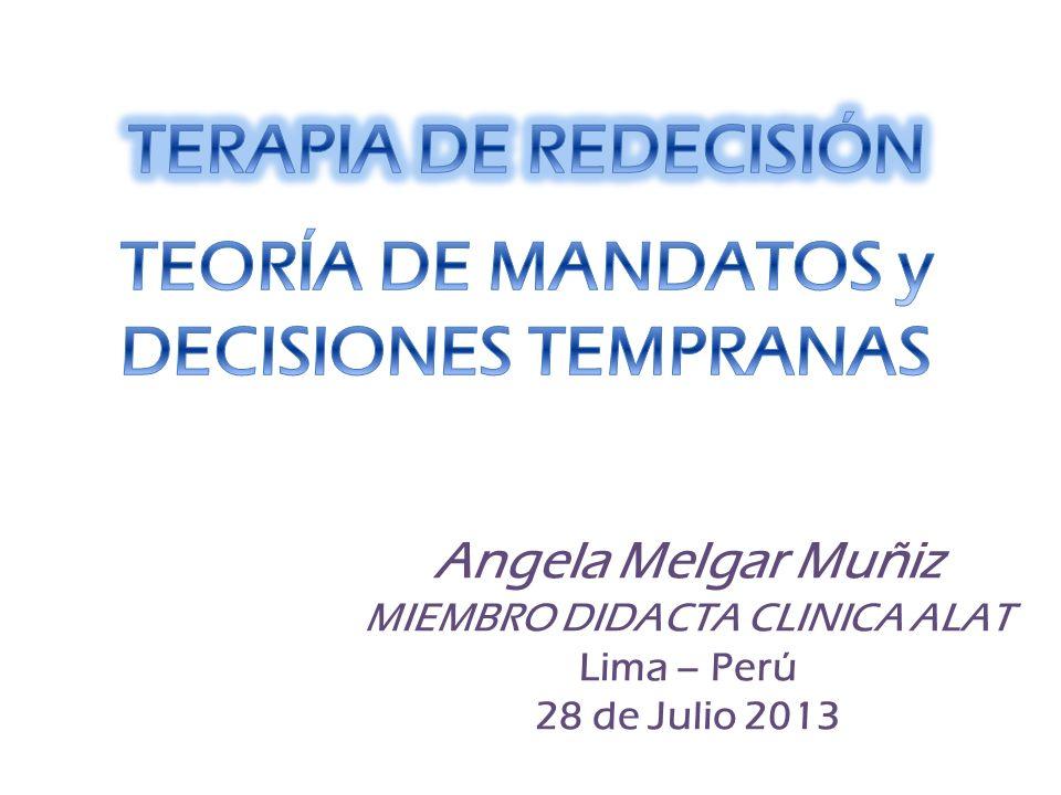 Angela Melgar Muñiz MIEMBRO DIDACTA CLINICA ALAT Lima – Perú 28 de Julio 2013