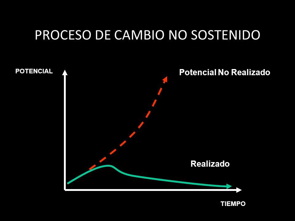 Realizado Potencial No Realizado POTENCIAL TIEMPO PROCESO DE CAMBIO NO SOSTENIDO