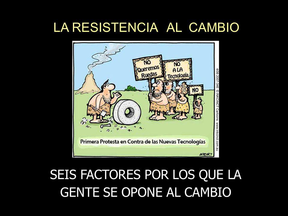 LA RESISTENCIA AL CAMBIO SEIS FACTORES POR LOS QUE LA GENTE SE OPONE AL CAMBIO