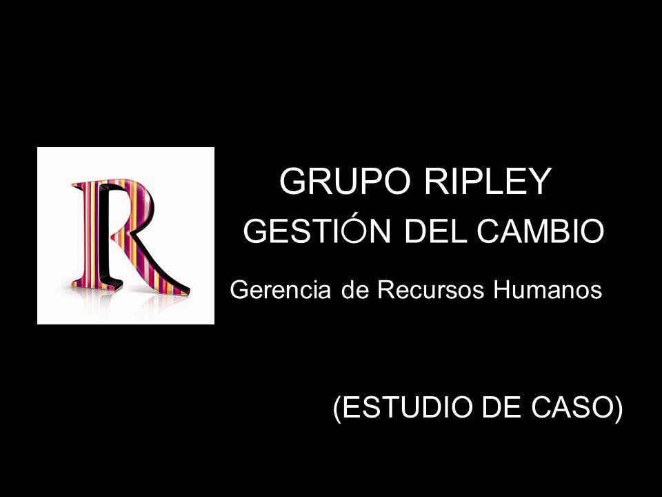 Gerencia de Recursos Humanos GESTI Ó N DEL CAMBIO (ESTUDIO DE CASO) GRUPO RIPLEY