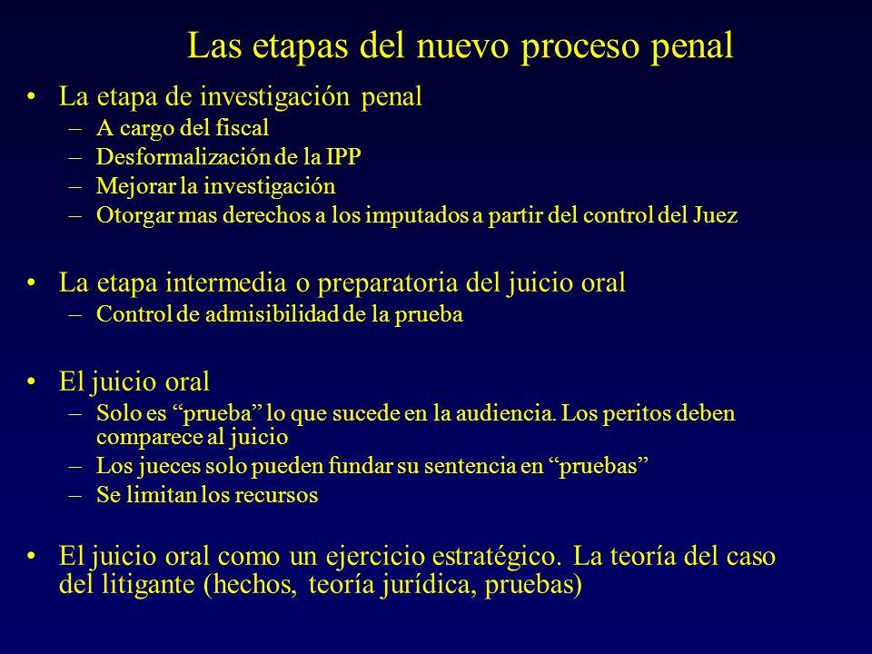 Como impacta este nuevo sistema penal en la concepción de la prueba pericial (un cambio de paradigma)