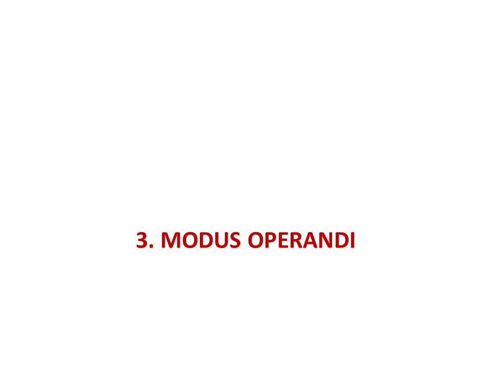 3. MODUS OPERANDI