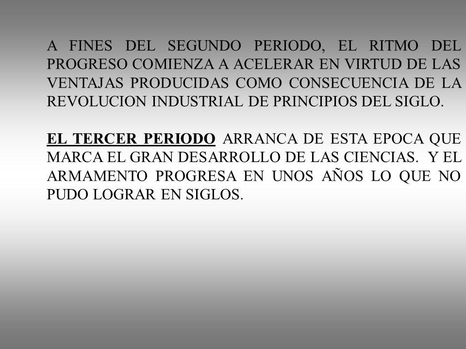 A FINES DEL SEGUNDO PERIODO, EL RITMO DEL PROGRESO COMIENZA A ACELERAR EN VIRTUD DE LAS VENTAJAS PRODUCIDAS COMO CONSECUENCIA DE LA REVOLUCION INDUSTR
