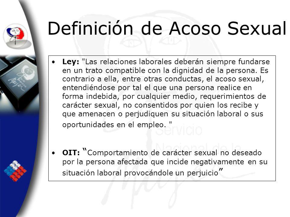Definición de Acoso Sexual Ley: