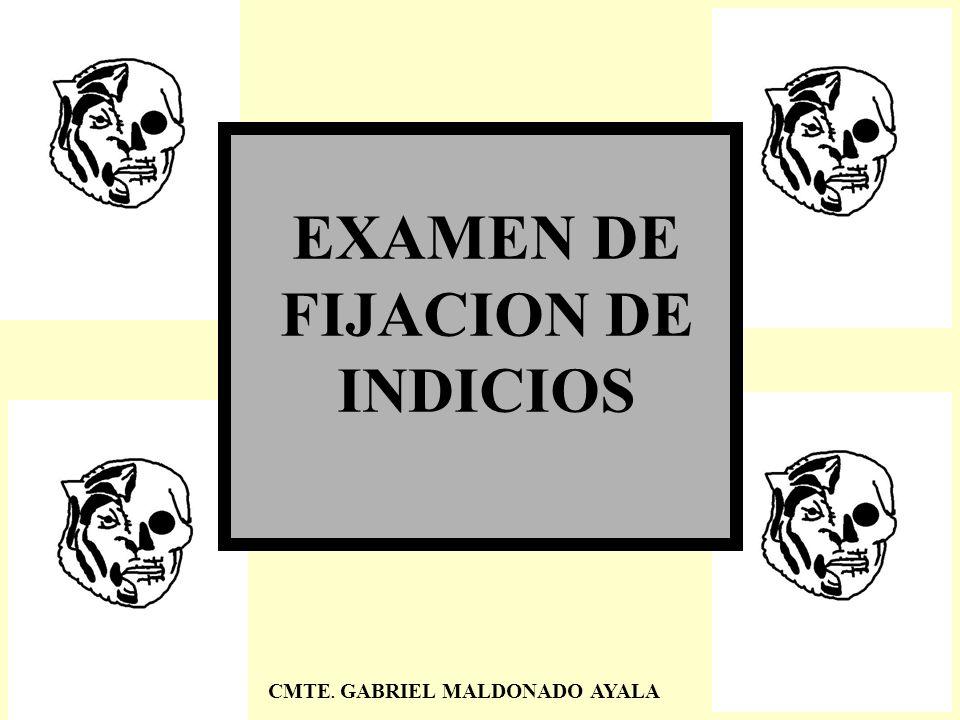 EXAMEN DE FIJACION DE INDICIOS CMTE. GABRIEL MALDONADO AYALA