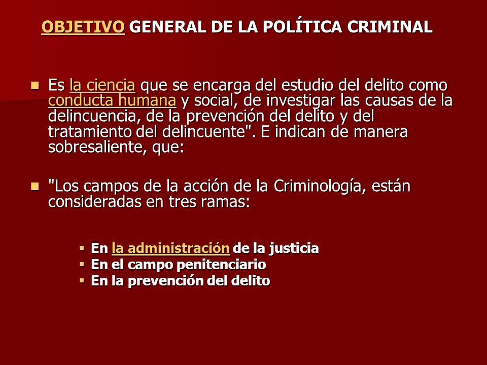 Es la ciencia que se encarga del estudio del delito como conducta humana y social, de investigar las causas de la delincuencia, de la prevención del d