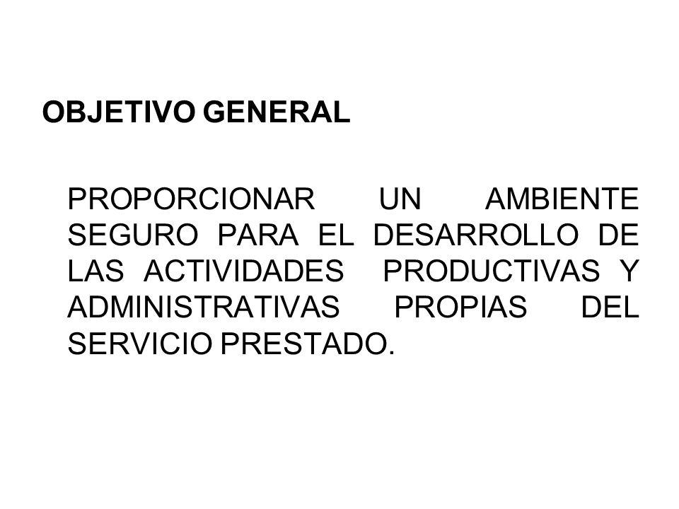 OBJETIVOS ESPECIFICOS: *DISMINUIR LAS QUEJAS Y RECLAMOS DE LOS CLIENTES *DISMINUIR INDICES DE ACCIDENTABILIDAD *IDENTIFICAR CAUSAS RAIZ