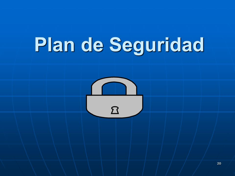 20 Plan de Seguridad