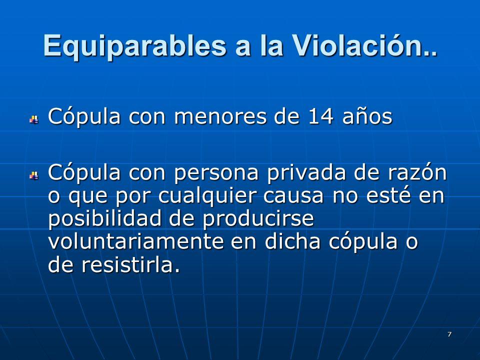 7 Equiparables a la Violación..