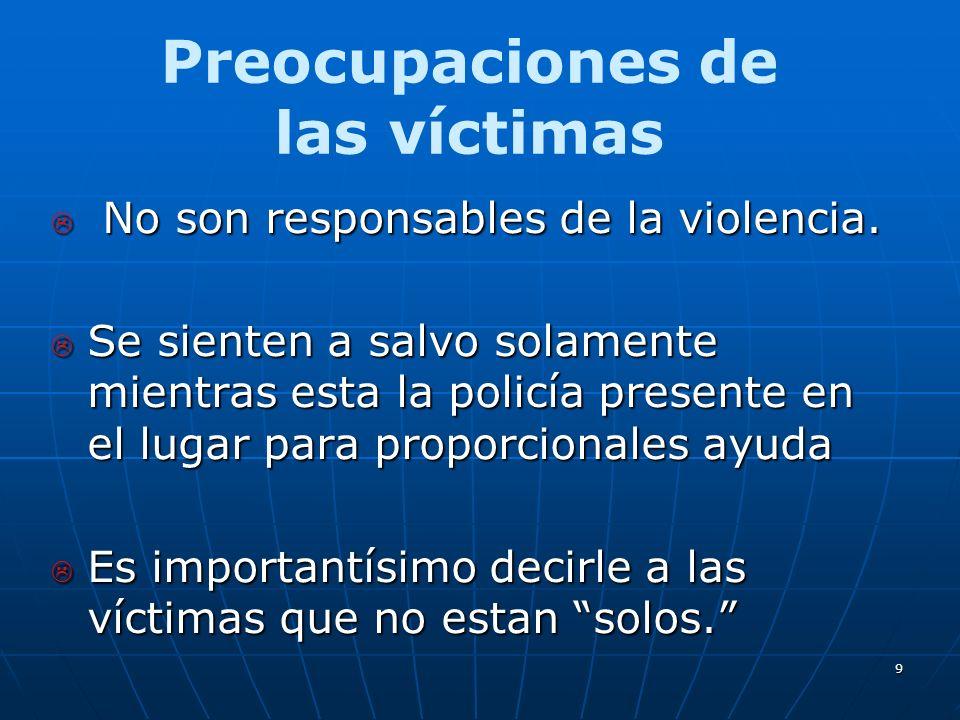 9 No son responsables de la violencia. No son responsables de la violencia.