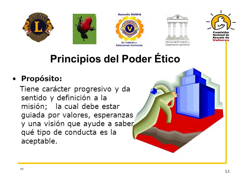 oo 13 Propósito: Tiene carácter progresivo y da sentido y definición a la misión; la cual debe estar guiada por valores, esperanzas y una visión que a