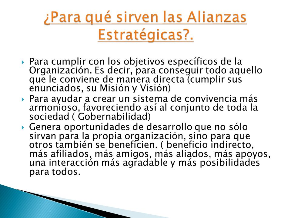 Es un entendimiento que se produce entre dos o más actores sociales diferentes, quienes gracias al diálogo y a la detección de objetivos de consenso,