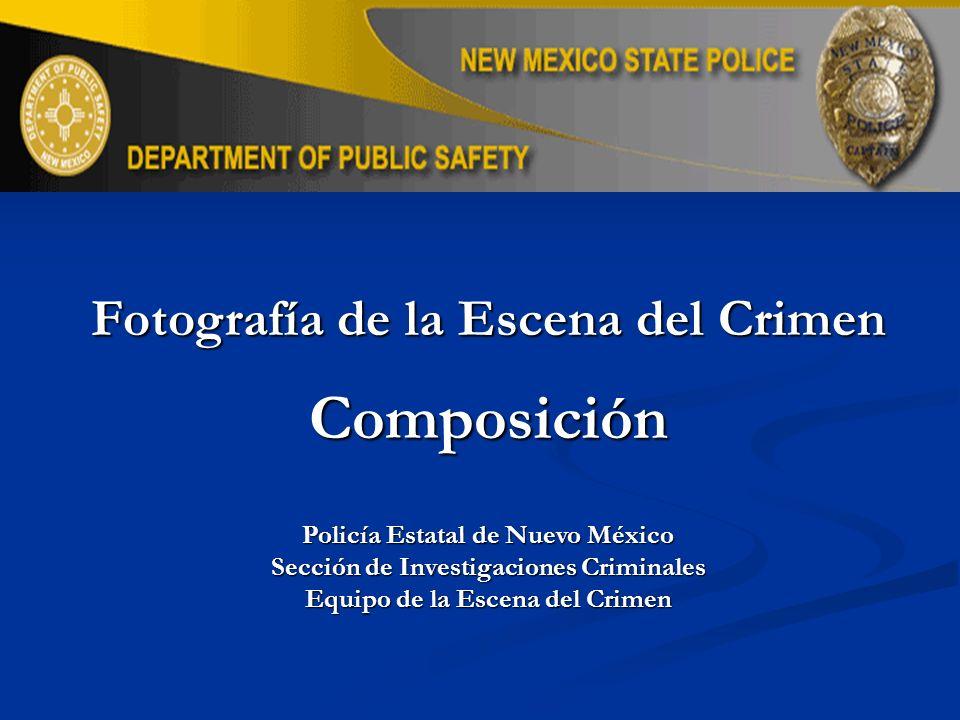 Objetivos de Aprendizaje Entender el término Composición Entender el término Composición Entender los tres pasos utilizados en el proceso utilizado para fotografiar escenas del crimen.