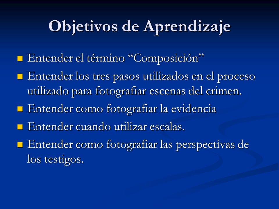Objetivos de Aprendizaje Entender el término Composición Entender el término Composición Entender los tres pasos utilizados en el proceso utilizado pa