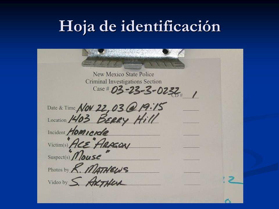 Hoja de identificación