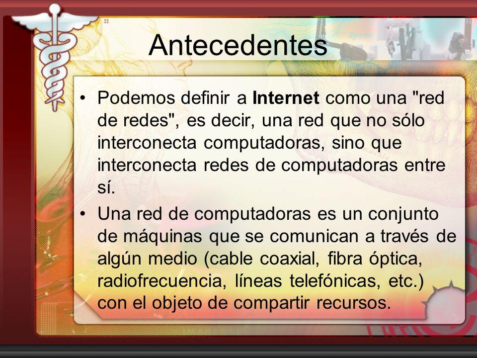 Antecedentes (2) Internet tiene un impacto profundo en el trabajo, el ocio y el conocimiento a nivel mundial.trabajoocioconocimiento Gracias a la web, millones de personas tienen acceso fácil e inmediato a una cantidad extensa y diversa de información en línea.información Fuente: Wikipedia (2008)