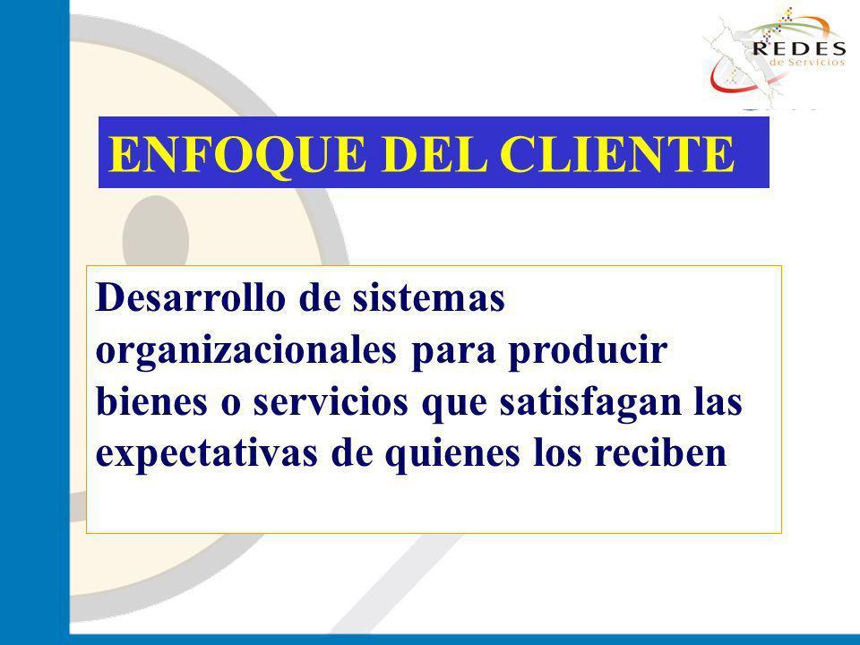 jantoniomar@hsoo.com ENFOQUE DEL CLIENTE Desarrollo de sistemas organizacionales para producir bienes o servicios que satisfagan las expectativas de q