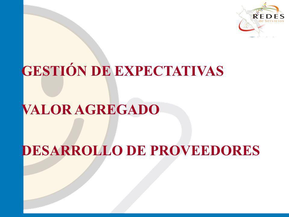 jantoniomar@hsoo.com GESTIÓN DE EXPECTATIVAS VALOR AGREGADO DESARROLLO DE PROVEEDORES