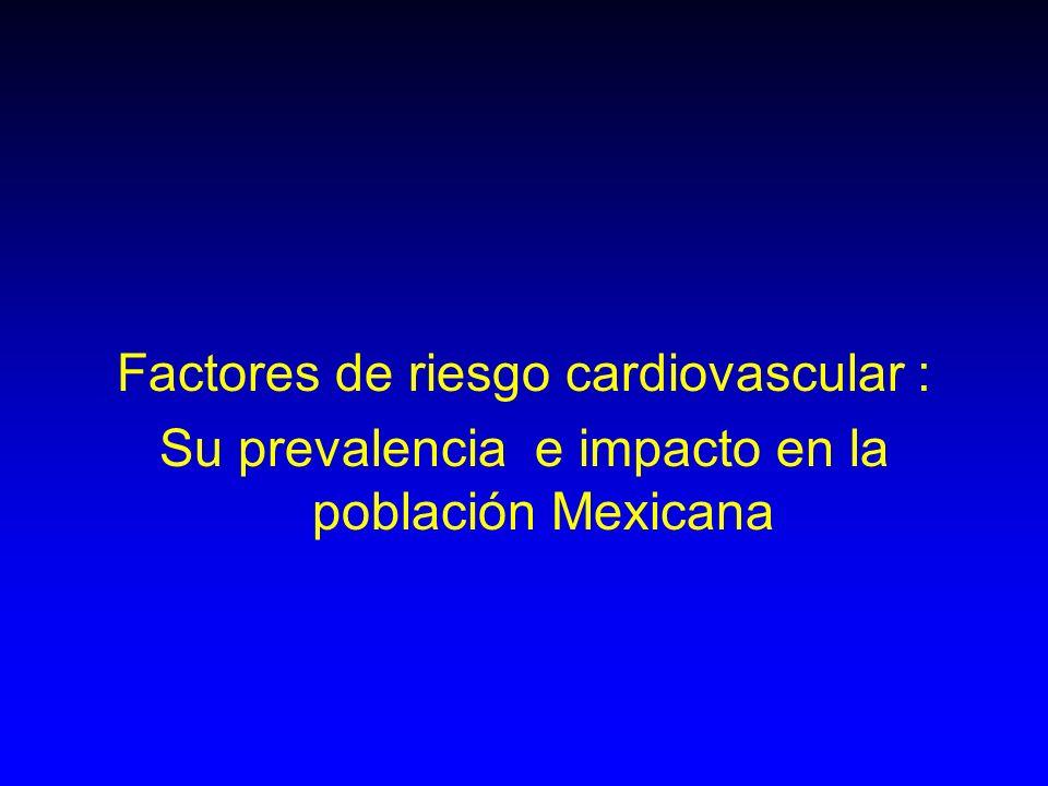 Factores de riesgo cardiovascular : Su prevalencia e impacto en la población Mexicana