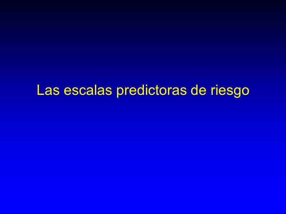 Las escalas predictoras de riesgo