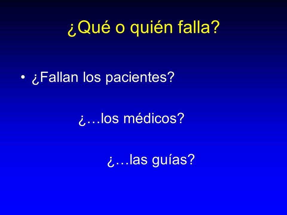 ¿Qué o quién falla? ¿Fallan los pacientes? ¿…los médicos? ¿…las guías?