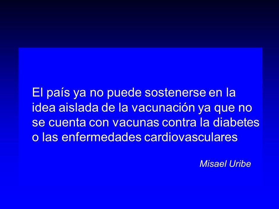 El país ya no puede sostenerse en la idea aislada de la vacunación ya que no se cuenta con vacunas contra la diabetes o las enfermedades cardiovascula