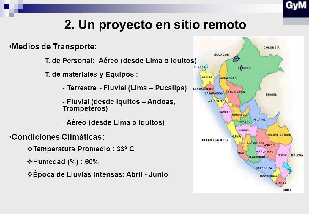 Medios de Transporte :Medios de Transporte : T.de Personal: Aéreo (desde Lima o Iquitos) T.