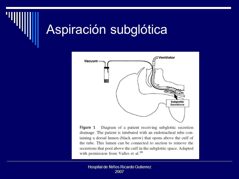 Hospital de Niños Ricardo Gutierrez 2007 Aspiración subglótica