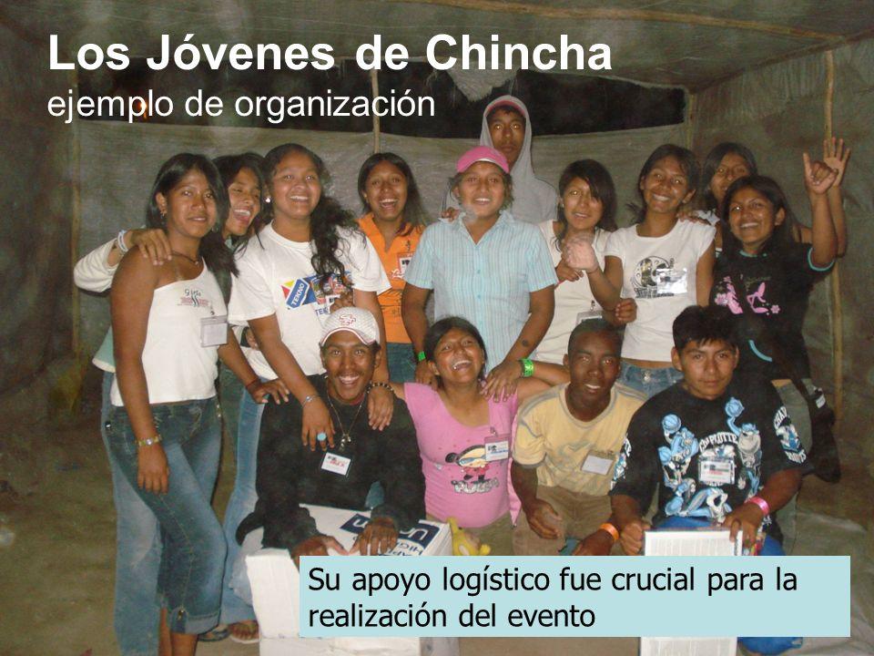 Los Jóvenes de Chincha ejemplo de organización Su apoyo logístico fue crucial para la realización del evento