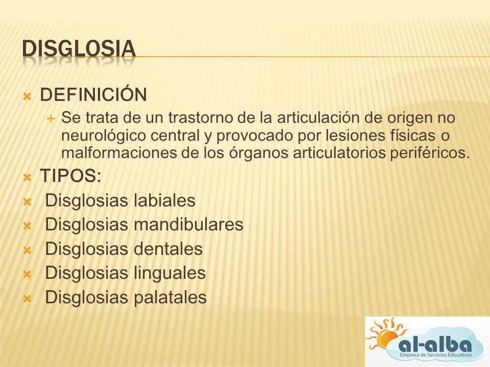 DEFINICIÓN Se trata de un trastorno de la articulación de origen no neurológico central y provocado por lesiones físicas o malformaciones de los órgan