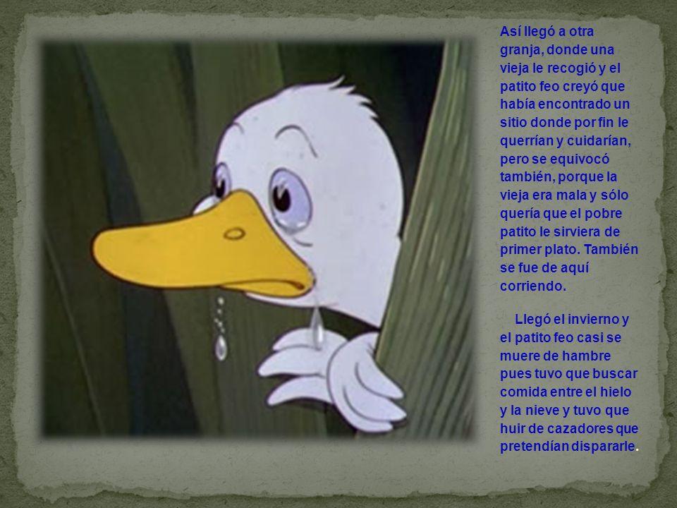 Al fin llegó la primavera y el patito pasó por un estanque donde encontró las aves más bellas que jamás había visto hasta entonces.