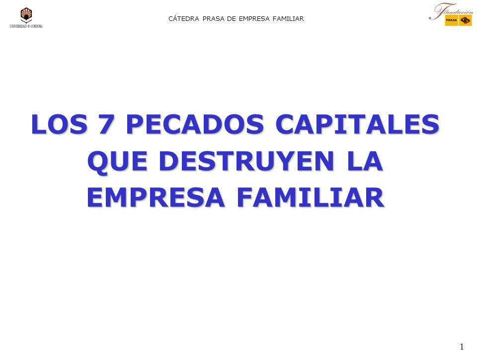 1 CÁTEDRA PRASA DE EMPRESA FAMILIAR LOS 7 PECADOS CAPITALES QUE DESTRUYEN LA EMPRESA FAMILIAR