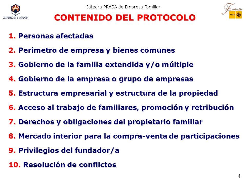 Cátedra PRASA de Empresa Familiar 3 IMAGEN DEL PROTOCOLO