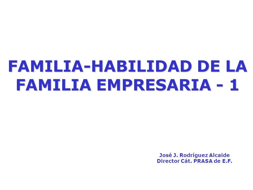 FAMILIA-HABILIDAD DE LA FAMILIA EMPRESARIA - 1 José J.
