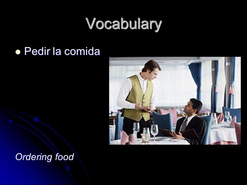 Vocabulary Pedir la comida Pedir la comida Ordering food