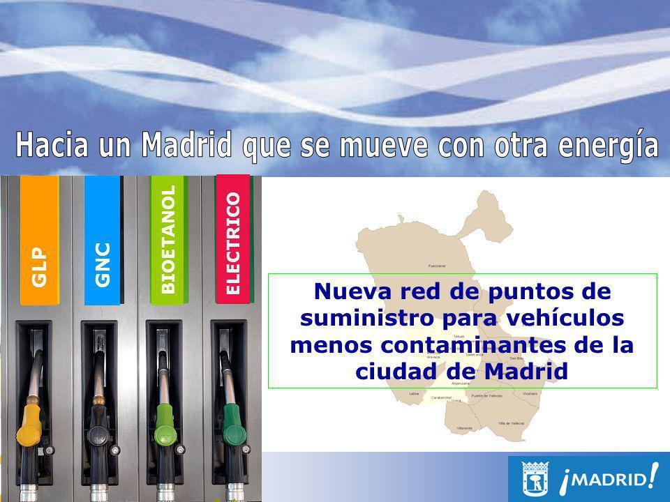 Marco estratégico Plan de Uso Sostenible de la Energía y Prevención del Cambio Climático de la ciudad de Madrid (2008-2012) Línea de Acción: Fomento de vehículos y Combustibles Alternativos Medida 17 : Promoción de redes de suministro de combustibles alternativos para el transporte Estrategia Local de Calidad del Aire de la ciudad de Madrid (2006-2010) Sector: tráfico rodado Medida: Fomento del empleo de combustibles más respetuosos con el medio ambiente