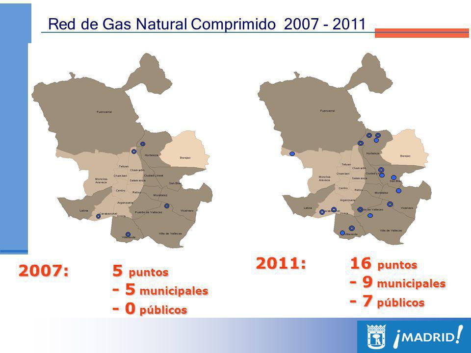 EVOLUCIÓN DE LA RED DE SUMINISTRO DE COMBUSTIBLES ALTERNATIVOS DE LA CIUDAD DE MADRID 2007-2011