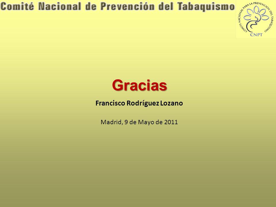 Gracias Francisco Rodríguez Lozano Madrid, 9 de Mayo de 2011