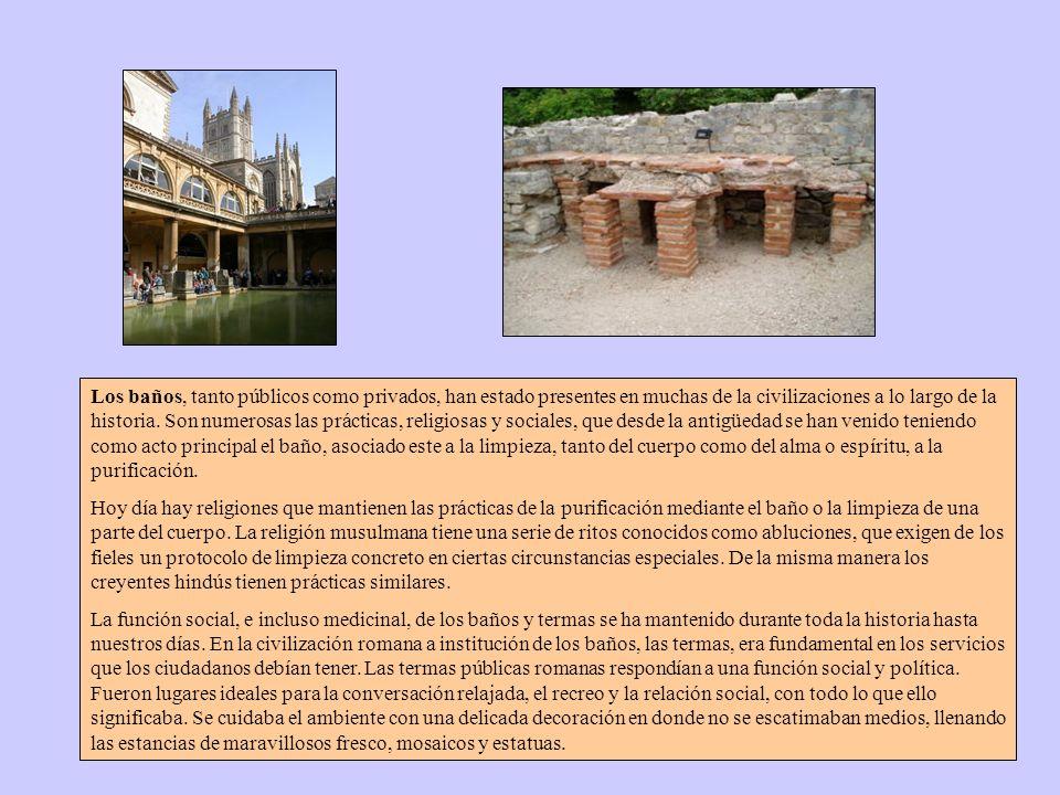 Las termas romanas son recintos públicos destinados a baños típicos de la civilización romana. En las antiguas villas romanas los baños se llamaban ba