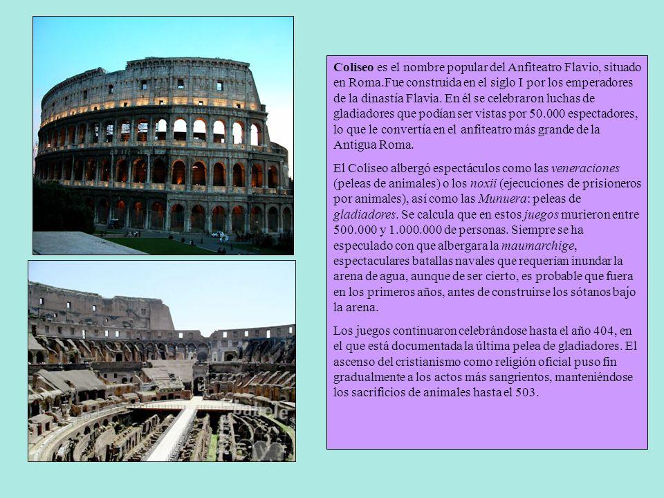 ARQUITECTURA ROMANA El mundo romano era muy amplio y había que comunicarlo de una manera eficiente. Para ello se construyó en todo el territorio una e