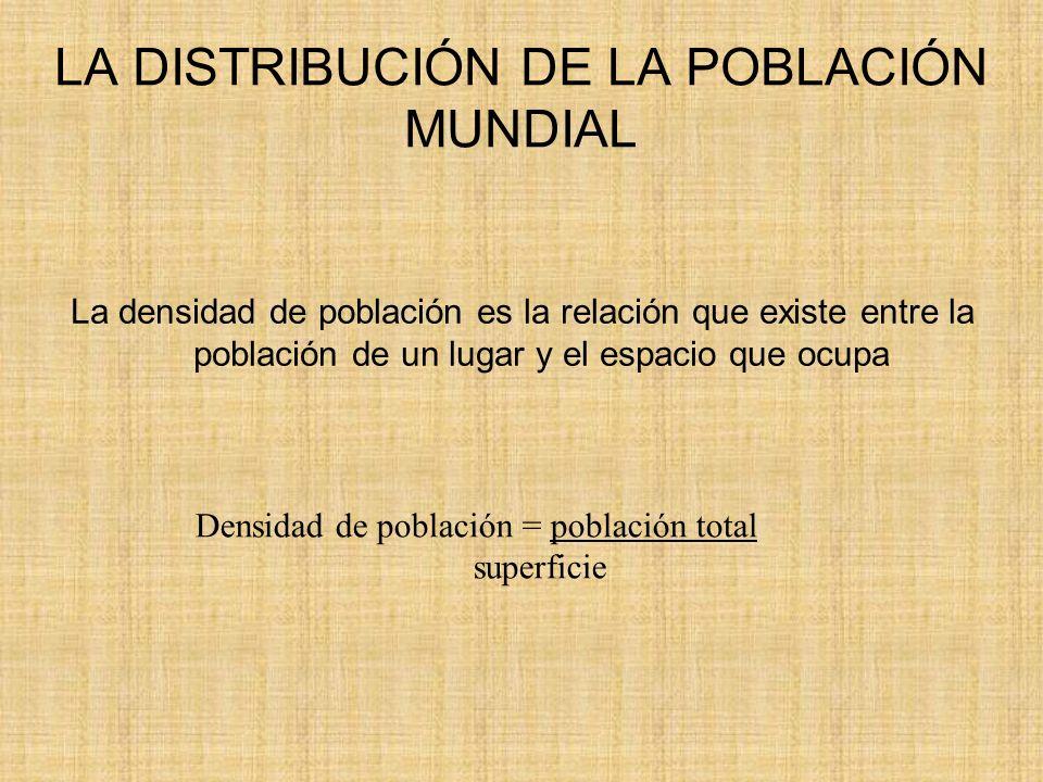 LA DENSIDAD DE POBLACIÓN EN EL MUNDO Geografía e historia, Ciencias sociales.