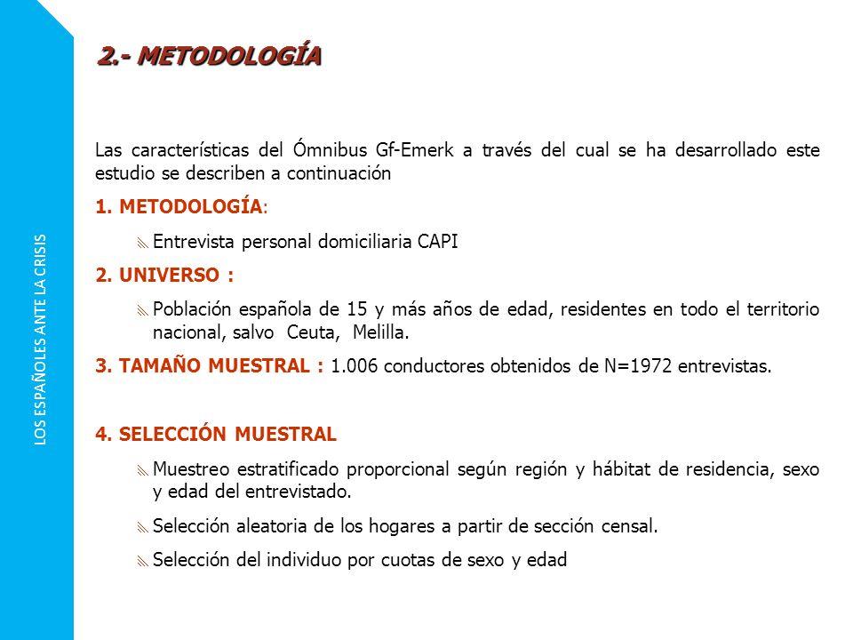 LOS ESPAÑOLES ANTE LA CRISIS 5.CUESTIONARIO El cuestionario consta de 4 preguntas.