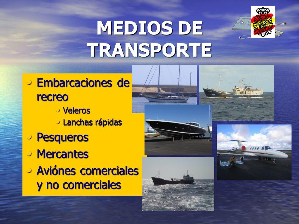 Embarcaciones de recreo Embarcaciones de recreo Veleros Veleros Lanchas rápidas Lanchas rápidas Pesqueros Pesqueros Mercantes Mercantes Aviónes comerc