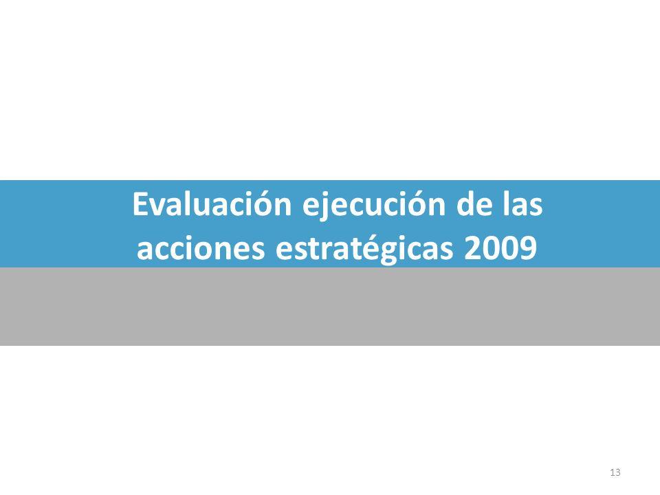 Evaluación ejecución de las acciones estratégicas 2009 13