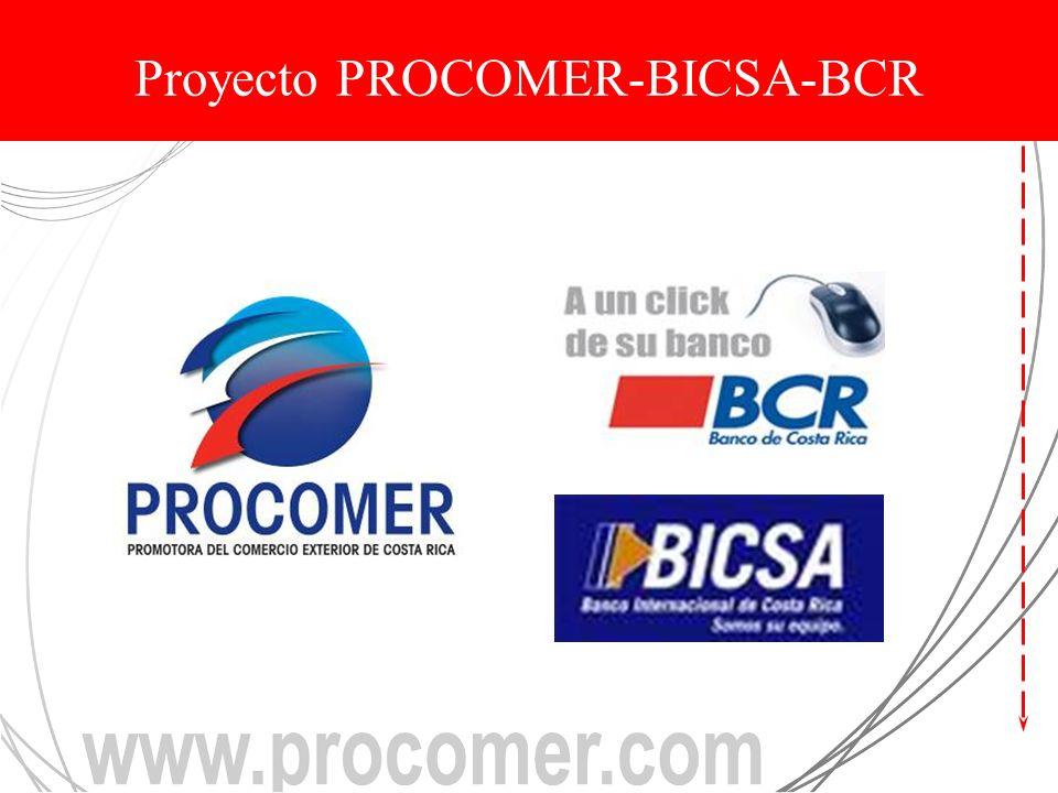 Proyecto PROCOMER-BICSA-BCR