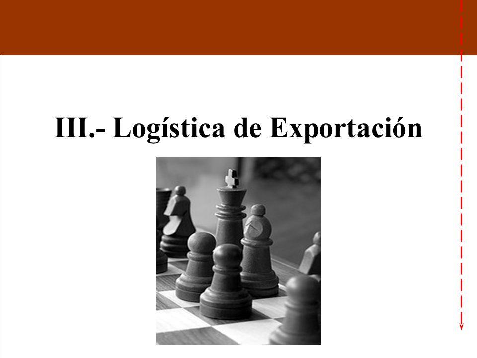 III.- Logística de Exportación