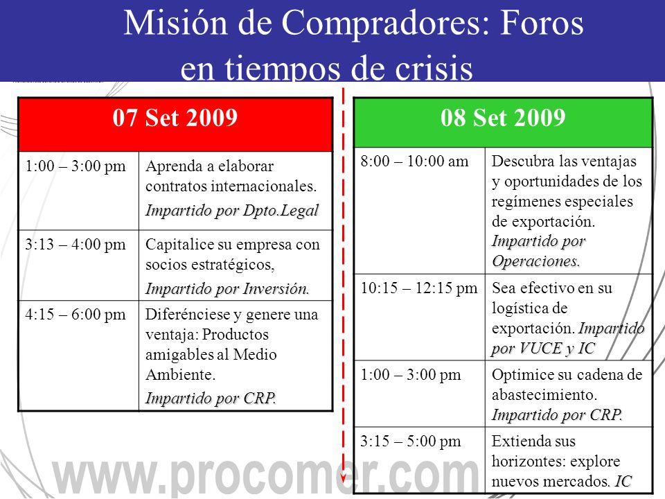 07 Set 2009 1:00 – 3:00 pmAprenda a elaborar contratos internacionales.