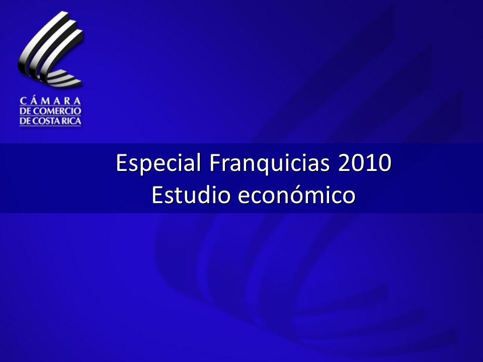 Especial Franquicias 2010 Estudio económico